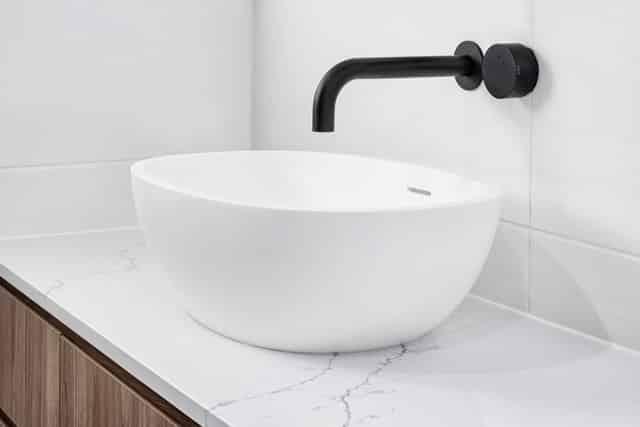 Modern bathroom sink basin - Plumbers Ballina, NSW
